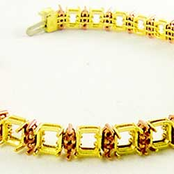 18K Rose and 18K Yellow Gold Bracelet Mounting