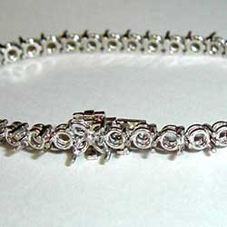 Small 3 Prong Bracelet Mounting In Platinum with Marquise Clasp