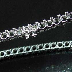 Platinum Tennis Bracelet for Round Stones