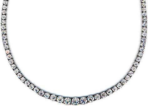 Mounted Diamond Riviere Necklace