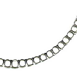 Blank Platinum Necklace Mounting for Cushion Cut Diamonds