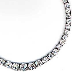 Platinum Riviere Necklace with Round Diamonds